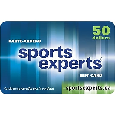 Carte-cadeau de 50 $ chez Sports Experts