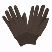 Cordova 8oz. Men's Standard Weight Jersey Gloves, Color: Brown, 12 PR, Size: Large (14001)