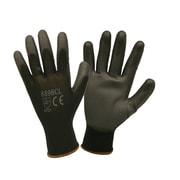 Cordova Polyurethane-Coated Nylon Gloves, Black, 12 PR, Size: Large (6896CL)