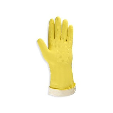 Cordova 18 mil. Flock-Lined Latex Gloves with an Embossed Grip, Size: 9, 12-Pack (4259R)