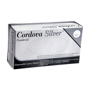 Cordova Silver™ Latex Industrial Grade Powdered Disposable Gloves, Color: White, Size: Large, Case of 1,000 (4020L)