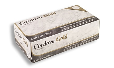Cordova Gold™ 5 mil. Latex Powder-Free Disposable Gloves, Color: Natural, Case of 1,000, Size: Small (4010S)