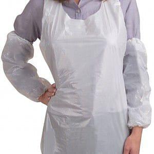 Cordova 18-Inch Polyethylene Disposable Sleeves, White, 1,000pcs/Case (PS18W)
