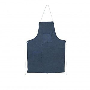 Cordova Denim Apron with Grommets & Two Pockets, Color: Blue, One Size Fits Most (DA2)