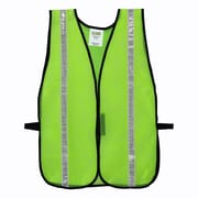 "Cordova Mesh Safety Vest with 1"" Reflective Tape, One Size Fits Most, Color: Hi-Vis Lime (V111W)"