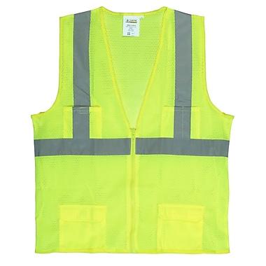 Cordova Class II Mesh Surveyors Vest with 2-Inch Reflective Tape, Color: Hi-Vis Lime, Size: Large (VS271PL)