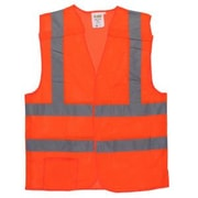 "Cordova Class II 5-Point Breakaway Vest with 2"" Reflective Tape, Color: Hi-Vis Orange, Size: Extra Large (VB230PXL)"