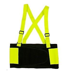 Cordova Hi-Vis Lime Back Support Belt, Size: Extra Large (SB100XL)