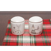 ZiaBella Holiday Santa and Reindeer 2-Piece Salt & Pepper Set