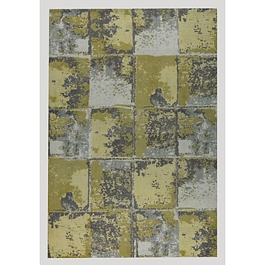 M.A. Trading Cleveland Hand-Woven Gold/Gray Area Rug; 4' x 6'