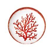 Encore Concepts Swimmingly Melamine Coral Shallow Bowl