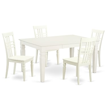 Darby Home Co Beeson 5 Piece Dining Set; White Linen