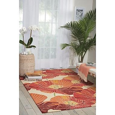Ebern Designs Aubuchon Hand-Hooked Sunset Area Rug; 5' x 7'6''