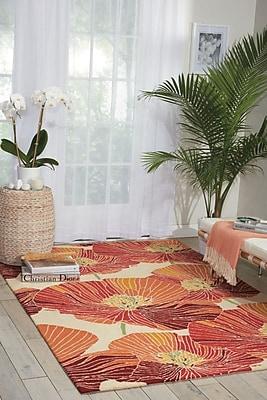 Ebern Designs Aubuchon Hand-Hooked Sunset Area Rug; Rectangle 1'9'' x 2'9''