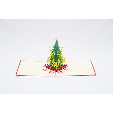 PopJoy – Carte Pop-up, arbres de Noël, carte de souhaits en 3D, 5/paquet