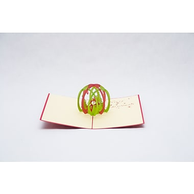 PopJoy Pop Up Card, Christmas Ball, 3D Greeting Card, 3/Pack