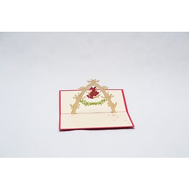PopJoy Pop Up Card, Christmas Bells, 3D Greeting Card, 3/Pack