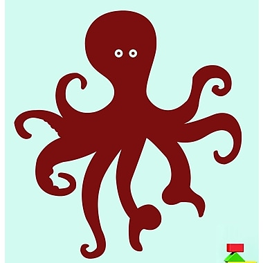 SweetumsWallDecals Octopus Wall Decal; Cranberry