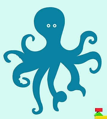 SweetumsWallDecals Octopus Wall Decal; Teal