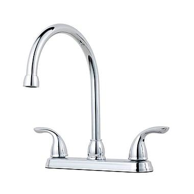 Pfister Double Handle Kitchen Faucet; Polished Chrome