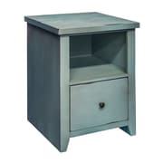 Gracie Oaks Sash 1 Drawer File Cabinet; Blue