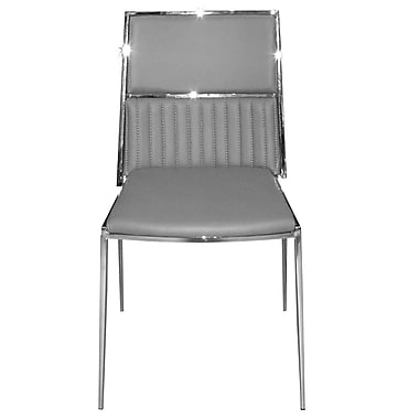 RMGFineImports Stanley Side Chair (Set of 4); Gray