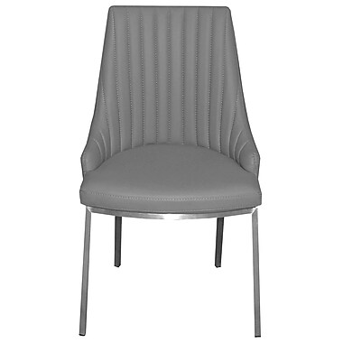 RMGFineImports Monroe Side Chair (Set of 2); Light Gray