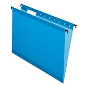 Pendaflex® SureHook® Reinforced Hanging File Folders, 5 Tab Positions, Letter Size, Blue, 20/Box (6152 1/5 BLU)