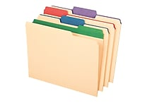 Pendaflex® Color Tab File Folders, Letter size, Assorted Colors, 50/BX