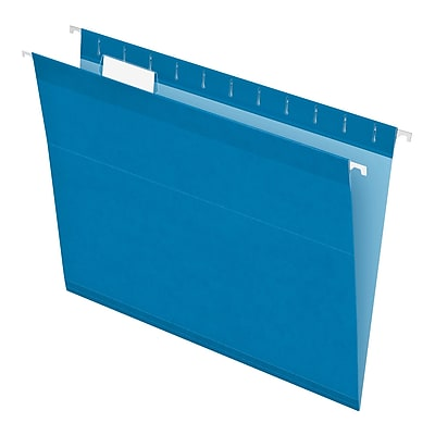 Pendaflex® Recycled Colored Hanging File Folders, Letter Size, Blue