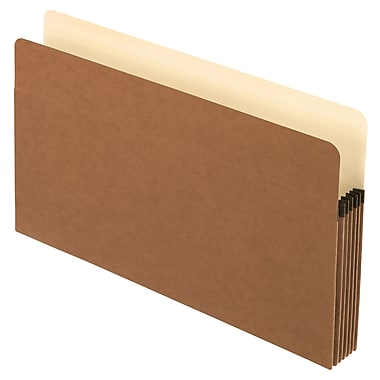 Staples® Straight-Cut File Pocket with Tyvek® reinforced Gussets, 5 1/4