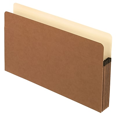 Staples® Straight-Cut File Pocket with reinforced Gussets, 5 1/4