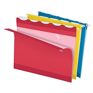 Pendaflex® Ready-Tab™ Reinforced Hanging Folders, 5-Tab, Letter size, Assorted Colors, 20/Box (42891)