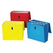 Staples® 13 Pocket Reinforced Expanding File with Flap, Assorted Colors (38299)