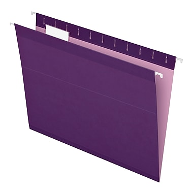 Pendaflex® Reinforced Hanging File Folders, 5 Tab Positions, Letter Size, Violet, 25/Box (4152 1/5 VIO)