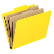 Pendaflex® Six-Section Colored PressGuard Classification Folders, Yellow, 10/Box