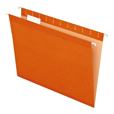 Pendaflex® Reinforced Hanging File Folders, 5 Tab Positions, Letter Size, Orange, 25/Box (4152 1/5 ORA)