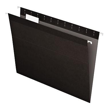Pendaflex® Reinforced Hanging File Folders, 5 Tab Positions, Letter Size, Black, 25/Box (4152 1/5 BLA)