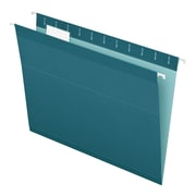 Pendaflex® Reinforced Hanging File Folders, 5 Tab Positions, Letter Size, Teal, 25/Box (4152 1/5 TEA)