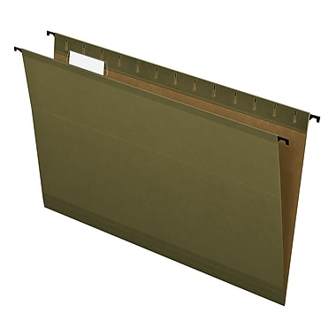 Pendaflex® SureHook® Reinforced Hanging File Folders, 5 Tab Positions, Legal Size, Standard Green, 20/Box (6153 1/5)