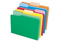 Pendaflex Double Stuff™ 3-Tab Colored File Folders, Letter, 50/Box
