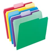 "Pendaflex® File Folders with InfoPocket®, Assorted Colors, LETTER-size Holds 8 1/2"" x 11 Size, 30/Bx"