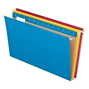 Pendaflex Hanging File Folders, 1/5 Tab, Legal, Assorted Colors, 25/Box (ESS81632)