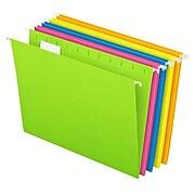 Pendaflex Glow 5-Tab Hanging File Folders, Letter Size, Multicolor, 25/Box (81672)