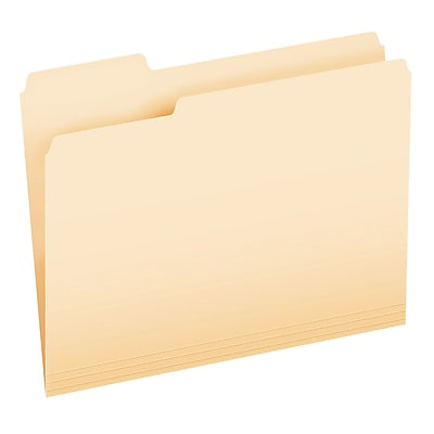 Pendaflex® CutLess® 3-Tab File Folder, Letter Size, Manila, 100/Box (48420)