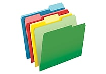Pendaflex® CutLess® File Folders, Letter Size, 3 Tab, Assorted Colors, 100/Box (48440)