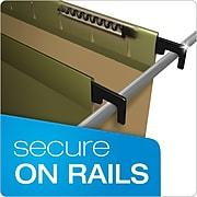 Pendaflex® SureHook® 5-Tab Hanging File Folders, Letter Size, Green, 20/Box (6152 1/5)