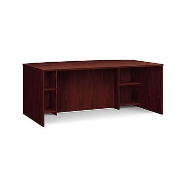 basyx by HON® BSXBL2111BFNN BL Series Bow Top Breakfront Desk Shell, Mahogany , 29