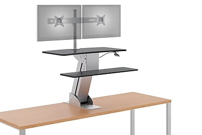 HON Coordinate Mounted Desktop Riser with Dual Monitor Arm NEXT2018 NEXT2Day