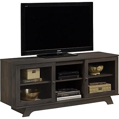 Dorel - Support Englewood de téléviseur de 55 po, chêne gris foncé